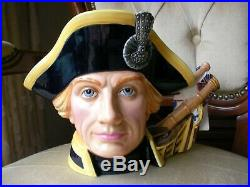 Royal Doulton Large Character Toby Jug Lord Horatio Nelson D7236 One Year Only