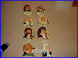 Royal Doulton Large Character Toby Jugs Great Composer Series Complete Set Of 8