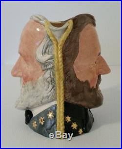 Royal Doulton Large Double Sided Character Jug Grant/lee D6698