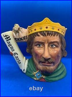 Royal Doulton Large Limited Edition Character Jug! King John! D7125! Mint! Rare