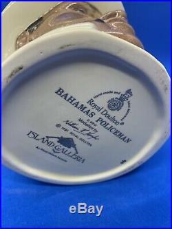 Royal Doulton Large Ltd Edition Character Jug! Bahamas Policeman! D6912! Mint