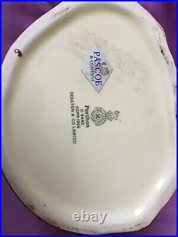 Royal Doulton Large Toby Character Jug Porthos D6440 1955 Porcelain Stein Mug