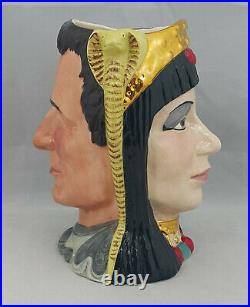 Royal Doulton Large Two Sided Character Jug Antony & Cleopatra D6728 Limited Ed