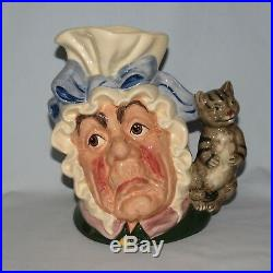 Royal Doulton Large character jug D6842 The Cook and the Cheshire Cat UK made