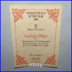 Royal Doulton Large character jug of Year 1995 Captain Bligh D6967 UK made Cert