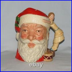 Royal Doulton Large size character jug D6668 Santa Claus Doll Handle 1981 only