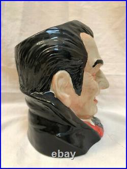 Royal Doulton Lg Character Jug Count Dracula D0753 1997 By David Biggs WithCard