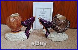 Royal Doulton Ltd Ed Character Jugs King George & Queen Elizabeth D7168 D7167