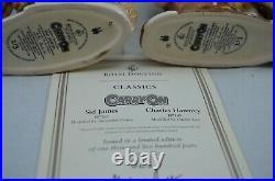 Royal Doulton Ltd Ed. Character Jugs Sid James & Charles Hawtrey With Coa