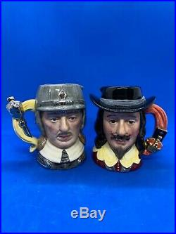 Royal Doulton Ltd Edition Character Jug Pair! King Charles I & Oliver Cromwell