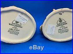 Royal Doulton Ltd Edition Character Jug Pair! Napoleon & Wellington! Mint! Rare