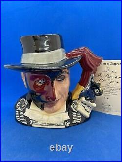 Royal Doulton Ltd Edition Character Jug! The Phantom Of The Opera! + Cert! Rare