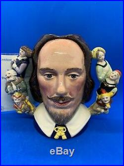 Royal Doulton Ltd Edition Twin Handle Character Jug! William Shakespeare! Mint
