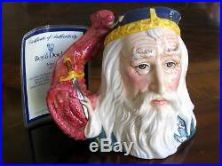 Royal Doulton Merlin D7117 Toby Character Jug Limited Edition of 1,500 withCOA