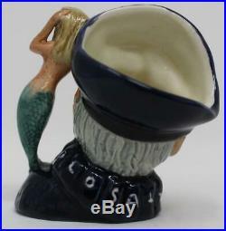 Royal Doulton Mini Miniature Character Jug Old Salt D6557 Open Arm Version