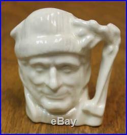 Royal Doulton Miniature Character Jug The Lumberjack White Gloss Rare
