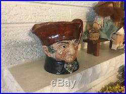 Royal Doulton Musical Character Toby Jug Old Charley C1938 w THORENS MUSIC box