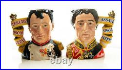 Royal Doulton NAPOLEON & WELLINGTON Character Jugs / c. 1995 LtdEd Museum Quality