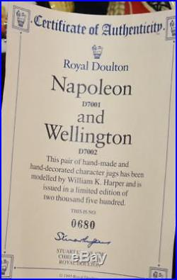 Royal Doulton NAPOLEON & WELLINGTON Small Character Jugs D7001 & 2-LE MINT