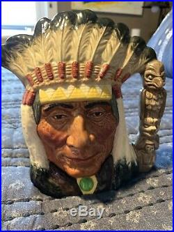 Royal Doulton Okoboji North American Indian Character Jug D6611