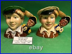 Royal Doulton Oliver Twist Prototype handle and color way character jug toby