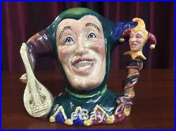 Royal Doulton / Pascoe and Co. Large Double Handle Jester Character Jug