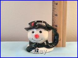 Royal Doulton Porcelain Snowman Miniature Character Toby Jug D 6972 England