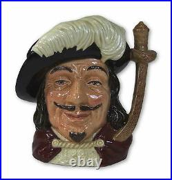 Royal Doulton Porthos Large Character Jug D6440 Made in England