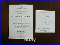 Royal Doulton President Barack Obama Character Jug of the Year 2011 D7300 MIB