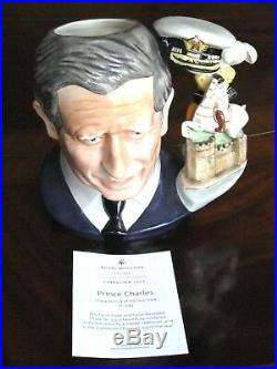 Royal Doulton Prince Charles D7283 Character Jug of the Year 2008 Mint Condition