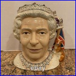 Royal Doulton Queen Elizabeth II 2006 Character Jug of the Year Mug D7256