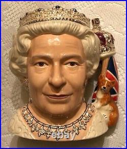 Royal Doulton Queen Elizabeth II 2006 Character Jug of the Year Toby Mug D7256
