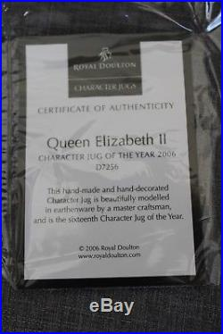 Royal Doulton Queen Elizabeth II Character Jug of the Year D7256 collectors item