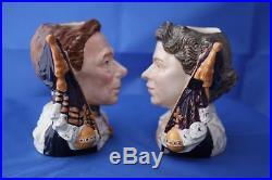 Royal Doulton Queen Elizabeth II & King George VI Character Jugs D7167 & D7168
