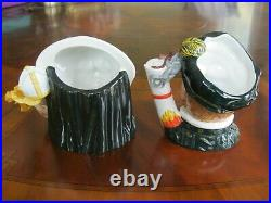 Royal Doulton Queen Mary I & Prince Philip Character Jugs D7188 D7189 Mint