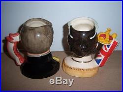 Royal Doulton Queen Victoria & Prince Albert D7072 D7073 Character Jugs + Cert
