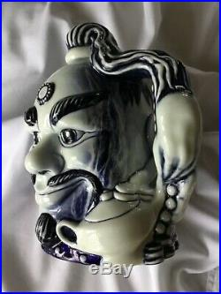 Royal Doulton Rare Blue Flambe Character Jug Aladdins Genie. Perfect