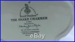Royal Doulton Rare The Snake Charmer Character Jug Large D6912 Limited Edition
