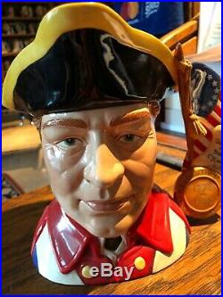 Royal Doulton Revolutionary War Character Jug D 7265 With Booklet