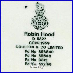 Royal Doulton Robin Hood Character Toby Jug England 1959