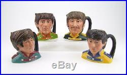 Royal Doulton Set of 4 Beatles Mid Size Character Jugs D6724 D6725 D6726 D6727