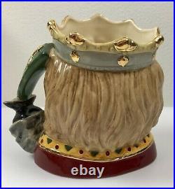 Royal Doulton Signed Large Character Toby Jug D7055 King Arthur LE 1469/1500 COA