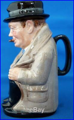 Royal Doulton Sir Winston Churchill Toby Character Jug 5 Unrecorded Size