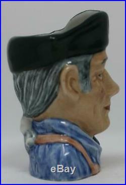 Royal Doulton Small Character Jug Blacksmith Rare Colourway Blue Shirt OOAK