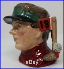 Royal Doulton Small Character Jug Modern Golfer Rare Prototype Red Shirt