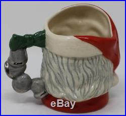 Royal Doulton Small Character Jug Santa Claus D6964 Christmas Bells Handle