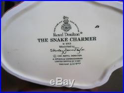 Royal Doulton Snake Charmer D6912 Character Jug Mint withCOA 2244 Of 2500 Made
