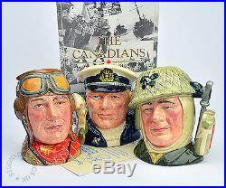 Royal Doulton The Canadians Soldier, Sailor, Airman Small Character Jugs