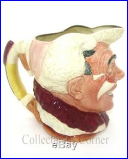 Royal Doulton The Clown White Haired Large Character Toby Jug D6322
