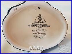 Royal Doulton Thomas Jefferson D6943, Ltd Ed 592/2500, with Extras